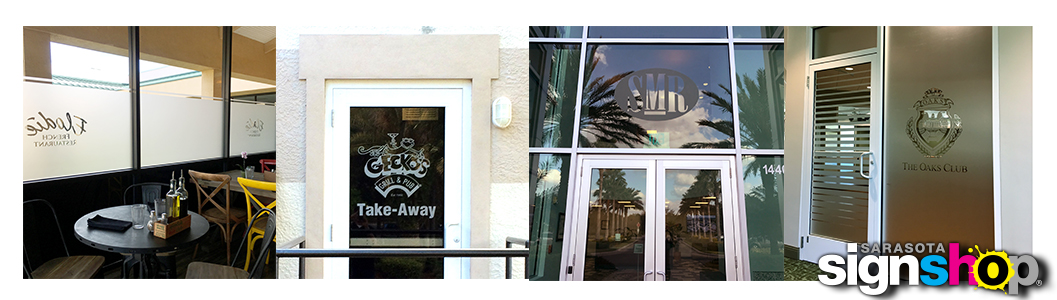 Etched Glass Vinyl Graphics | Sarasota